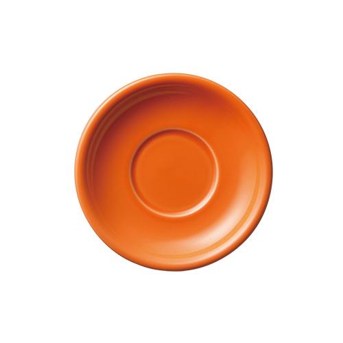 6オンス・8オンス兼用ラテボウルソーサー オレンジ
